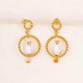 Circle Cockatoo earrings - 10th Anniversary - Nach