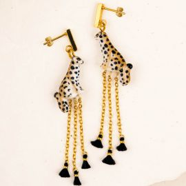 Leopard Chains and Beads earrings - 10th Anniversary - Nach
