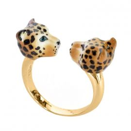 Leopard face to face ring - Nach