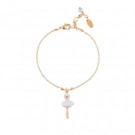 Mini Pas de Deux white bracelet - Les Néréides