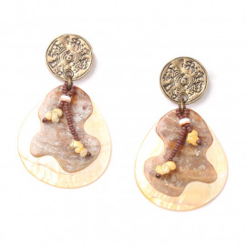 Wilderness clip-on earrings - Nature Bijoux