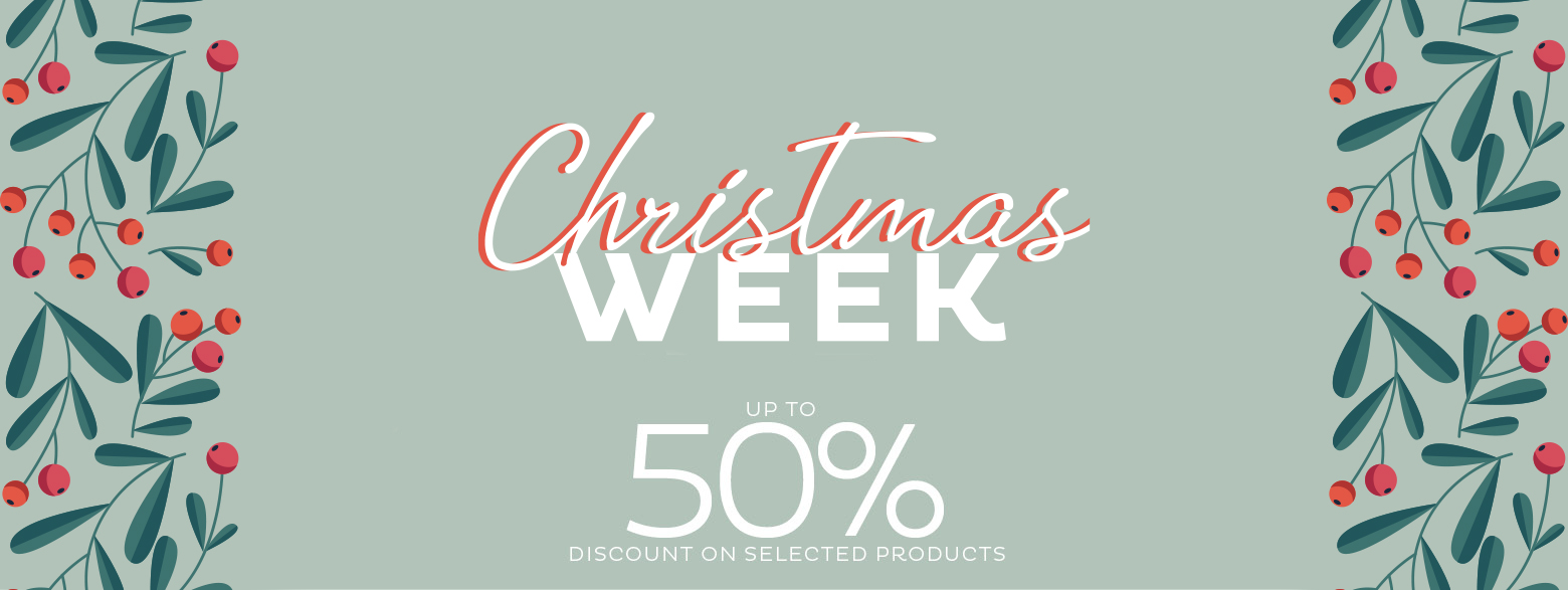 Christmas week- Up to 50% discount