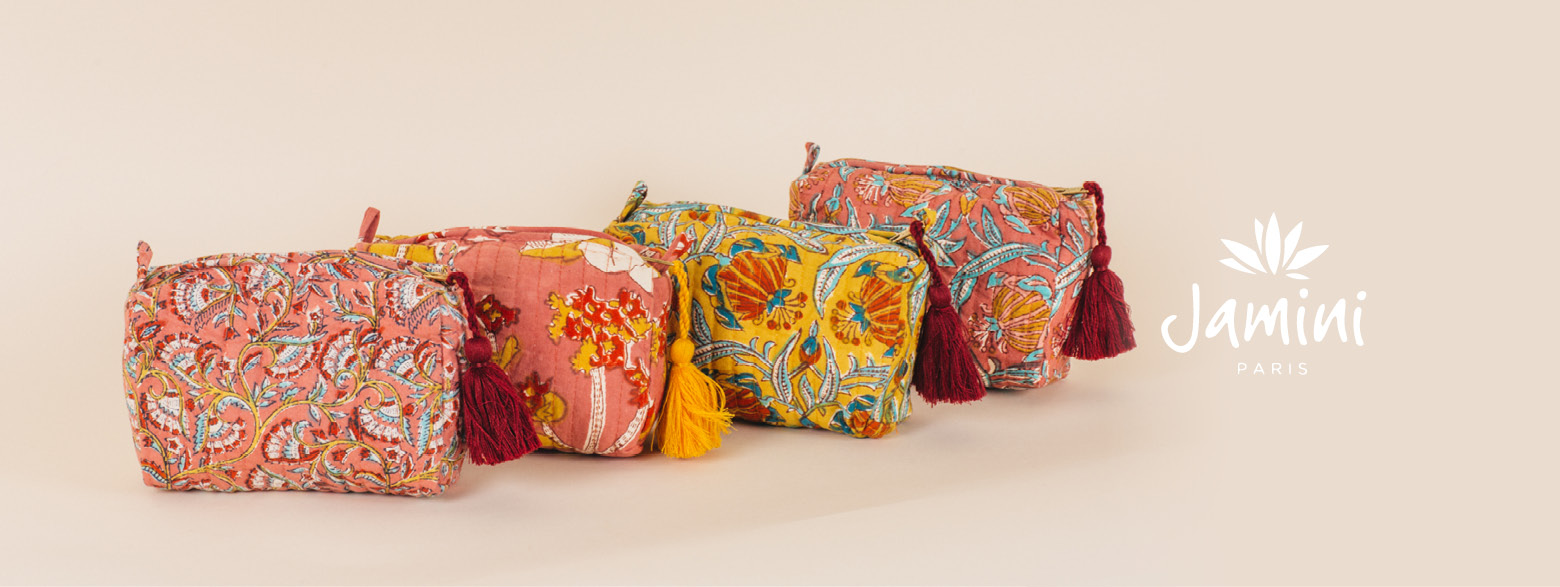Jamini - fall winter collection - Totebag and pouch made in india