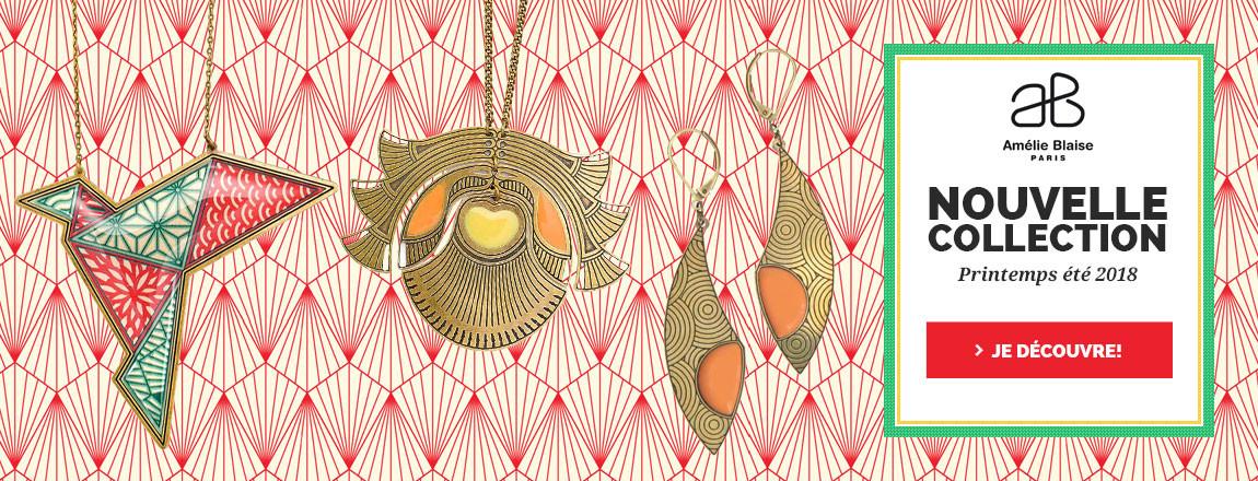 Retrouvez toutes les nouveautés de la créatrice de bijoux Amélie Blaise